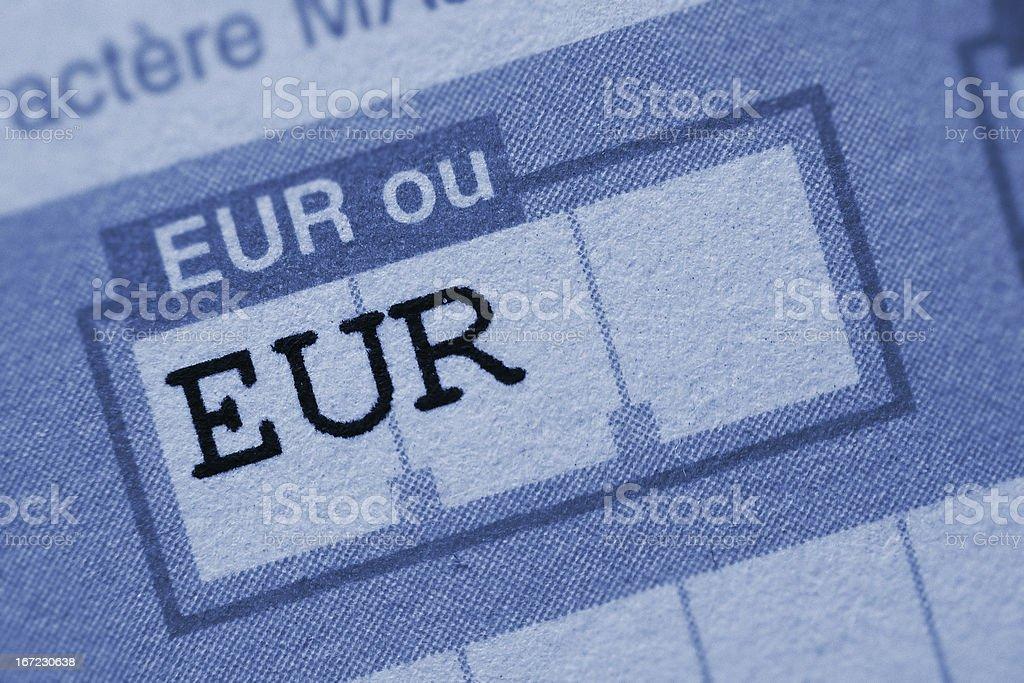 Euro bank transfert stock photo