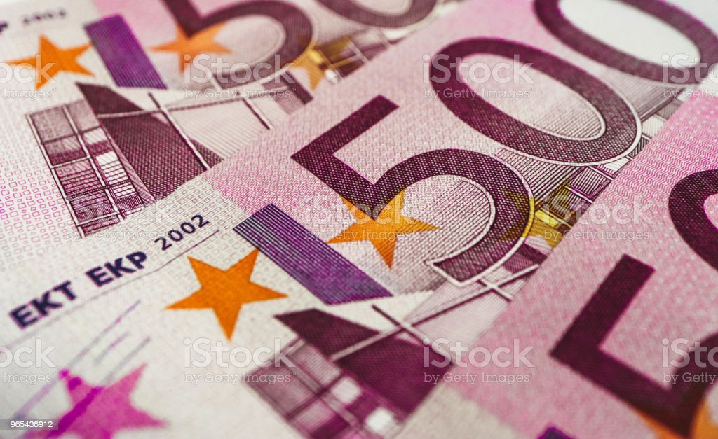 500 euro banknote close up. Five hundred euro money macro view. royalty-free stock photo