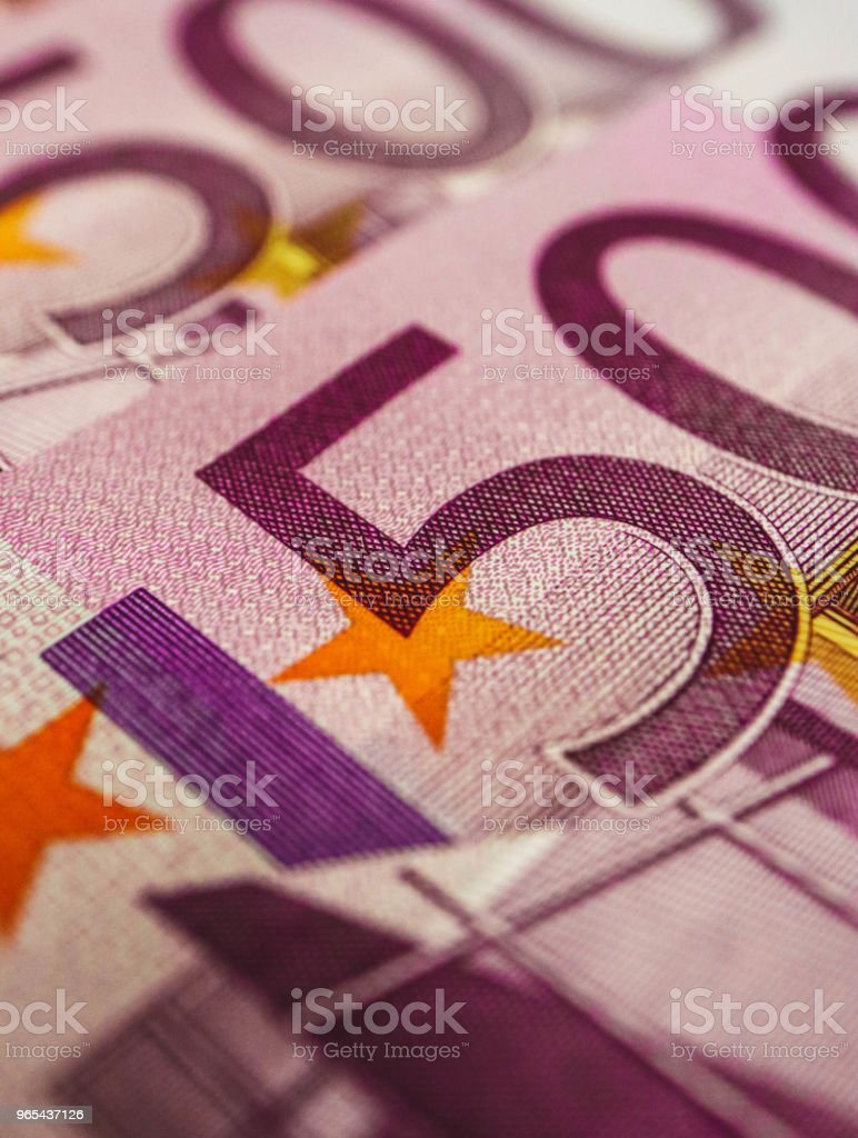 500 euro banknote close up. Five hundred euro money macro view. zbiór zdjęć royalty-free