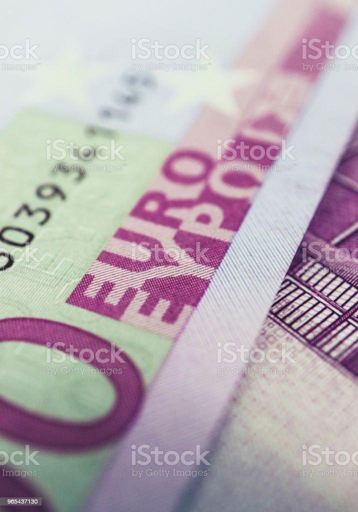 500歐元鈔票收盤。500歐洲貨幣宏觀看法。 - 免版稅500圖庫照片