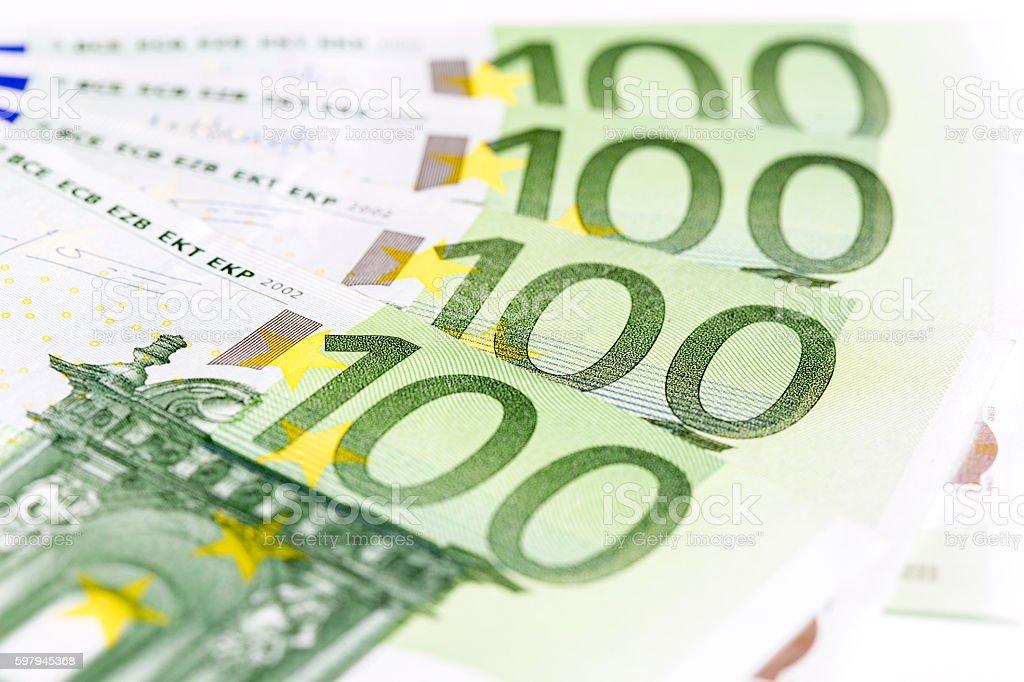 Euro Banknote in a macro shot foto royalty-free