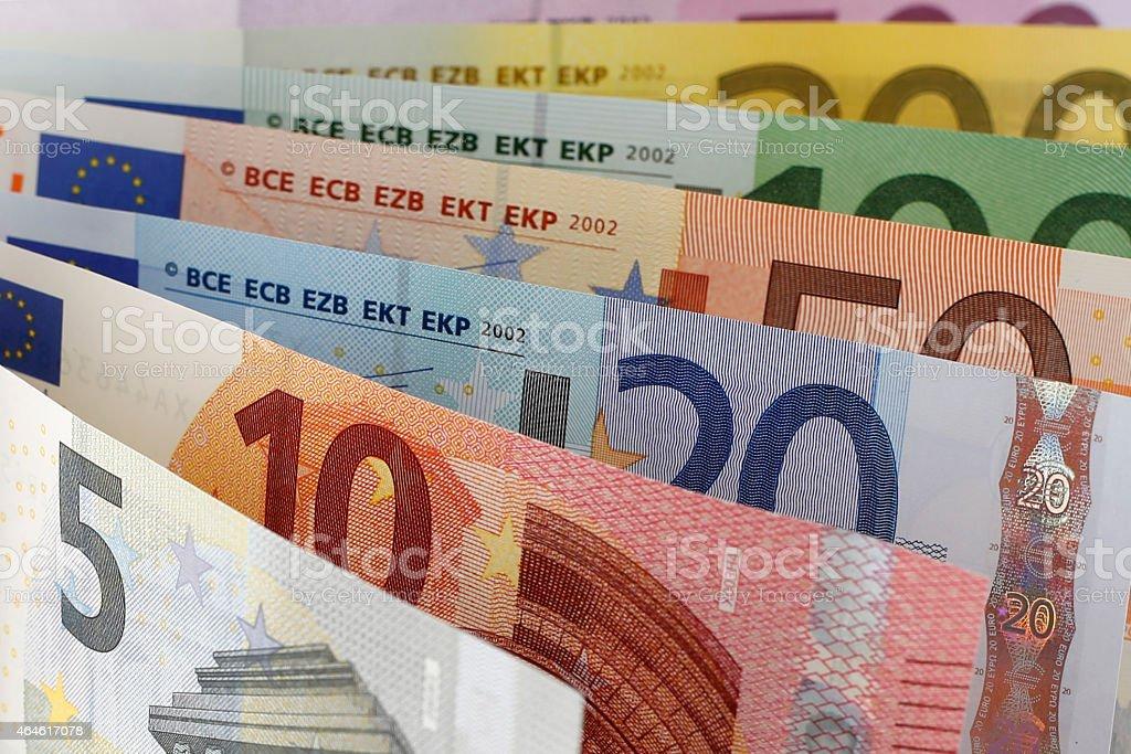 Billete de banco de euros - foto de stock