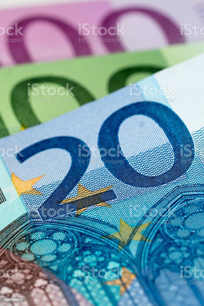 euro banknotes close up Lizenzfreies stock-foto