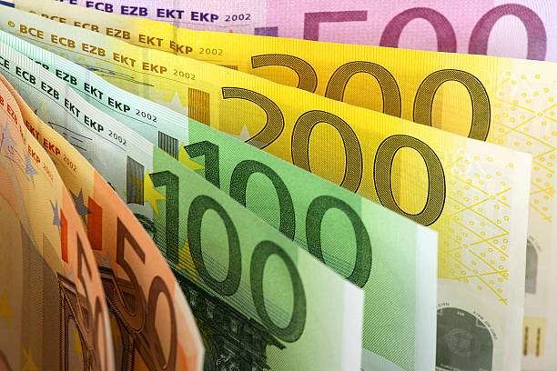 Euro banknotes fan Euro banknotes fan background. euro symbol stock pictures, royalty-free photos & images