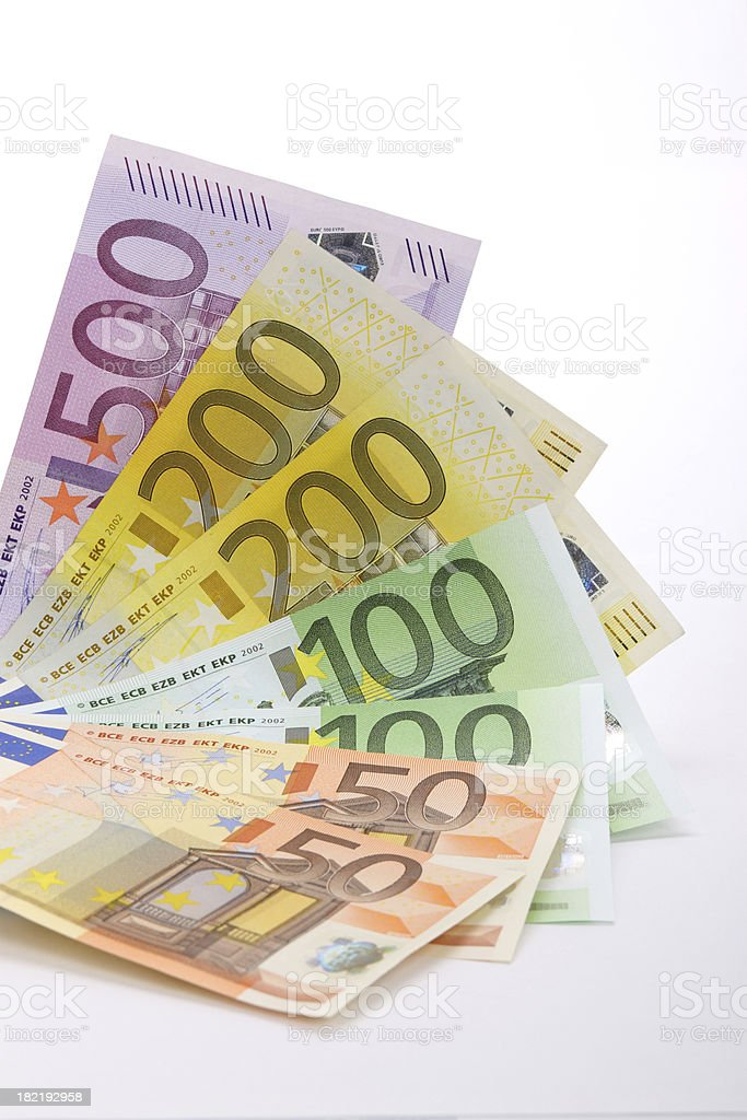 Euro banknotes fan royalty-free stock photo