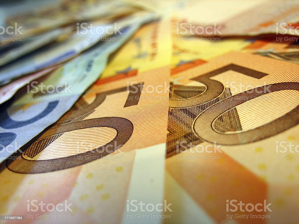 euro banknotes, fifty stock photo