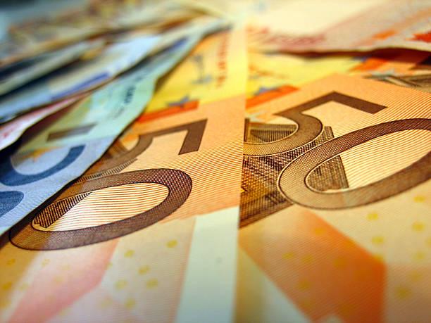 Fünfzig euro-Banknoten – Foto