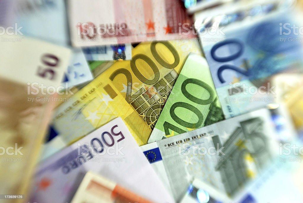 Billetes de Euro - foto de stock