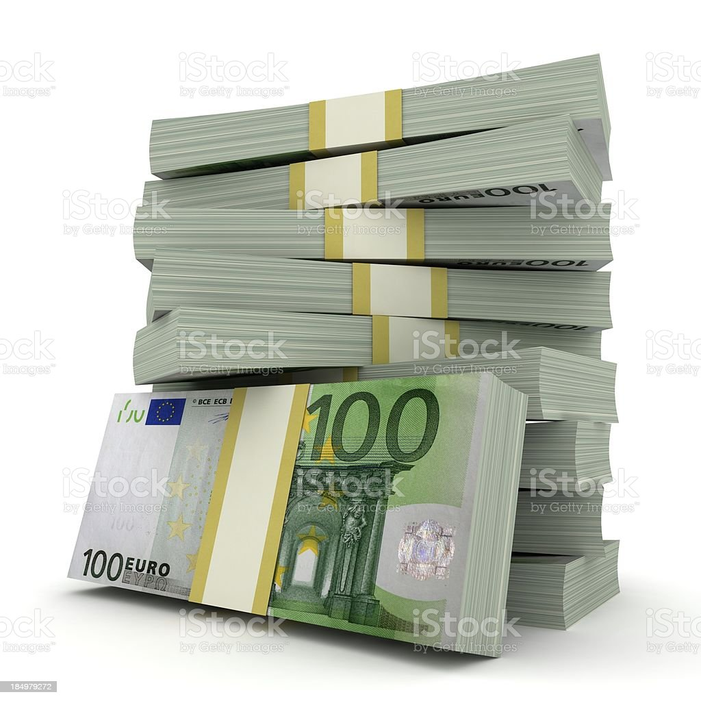 Billetes de Euro - foto de stock
