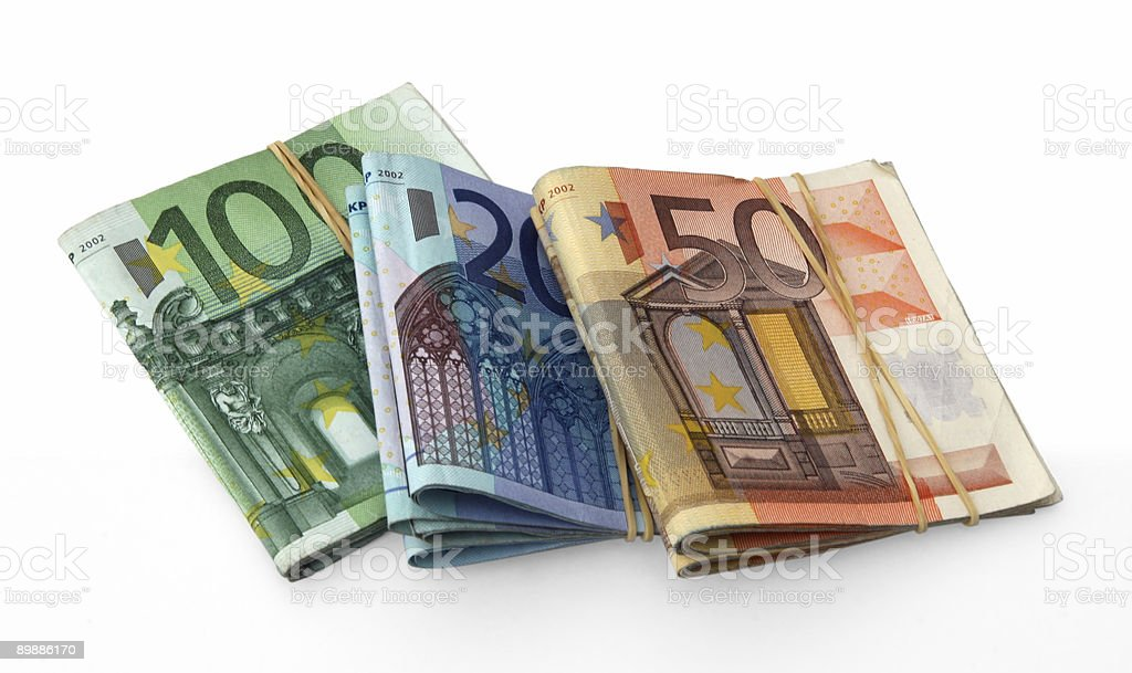 Billets en euro photo libre de droits
