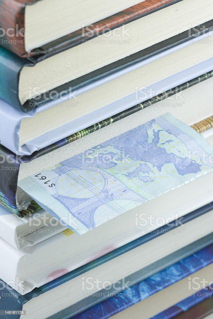 Euro bill bookmark royalty-free stock photo