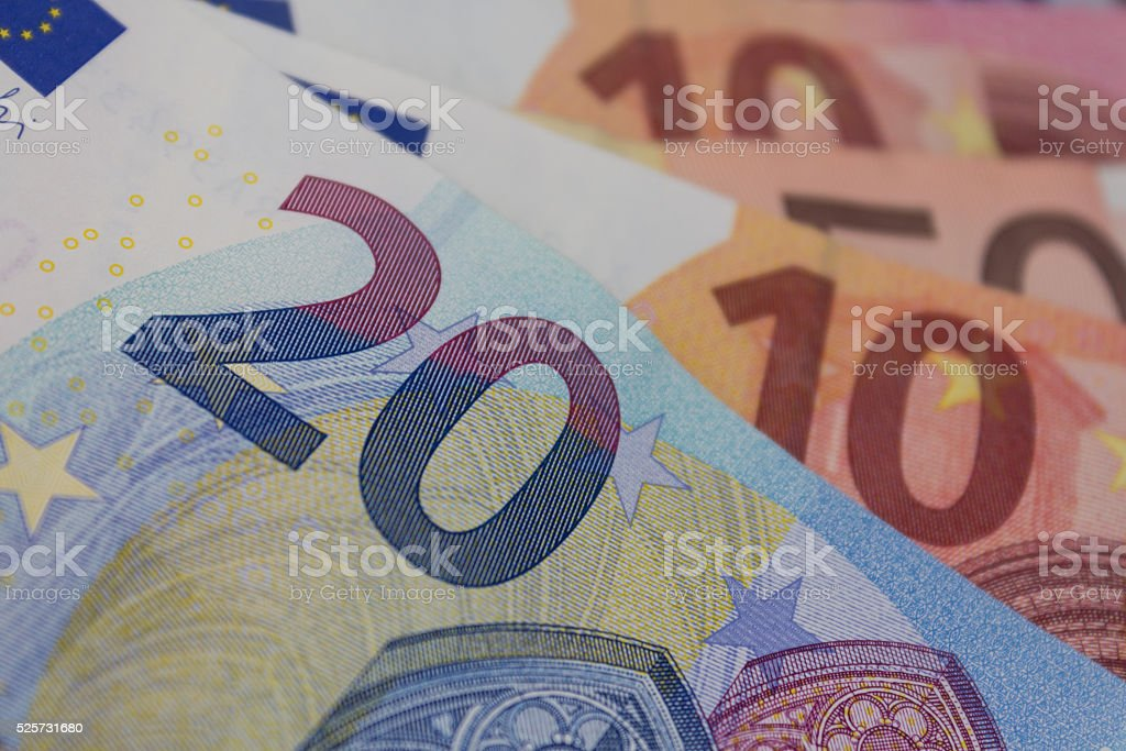 euro bills, european money - Euros stock photo