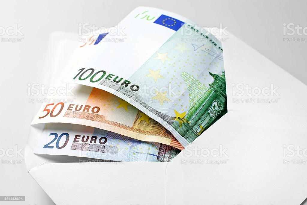 Euro note dans l