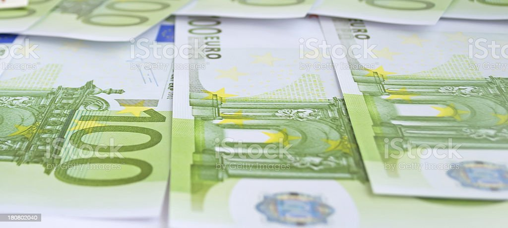 euro bills royalty-free stock photo