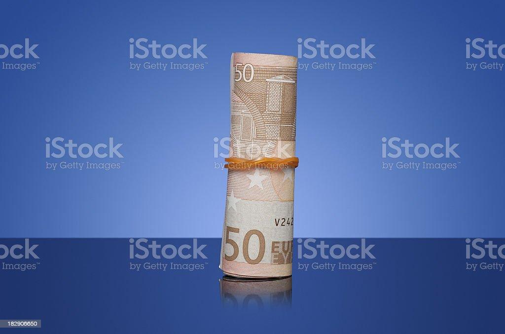 50 euro bills stock photo
