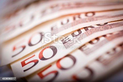 istock 50 Euro Bills 453696517