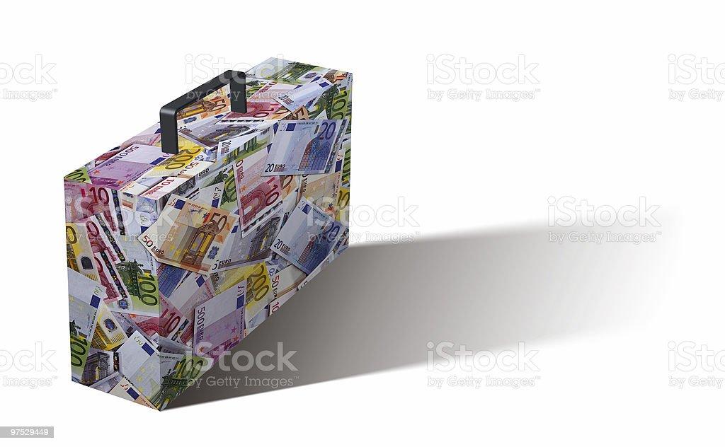 euro briefcase II royalty-free stock photo