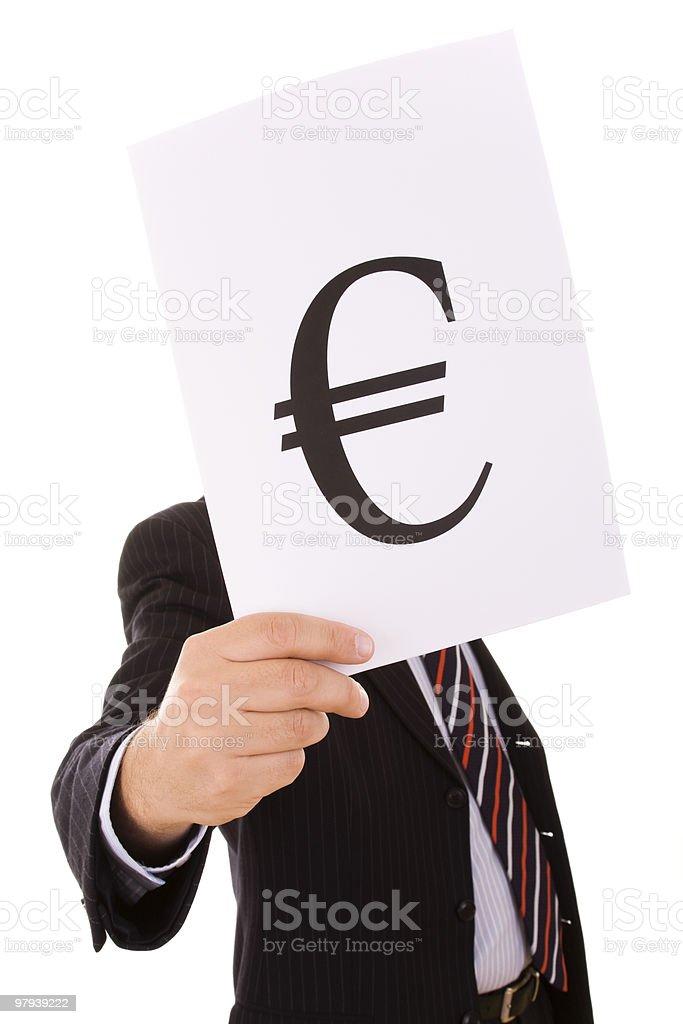 euro businessman royalty-free stock photo