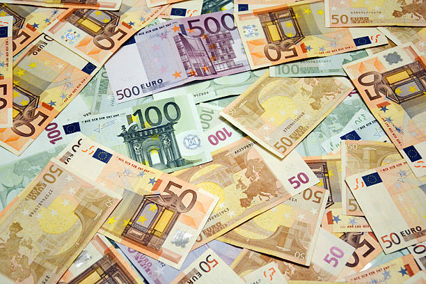 Euro Cash Background Euro Cash Background fifty euro banknote stock pictures, royalty-free photos & images