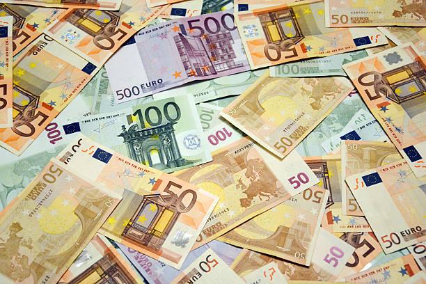 Euro-Bargeld Hintergrund – Foto