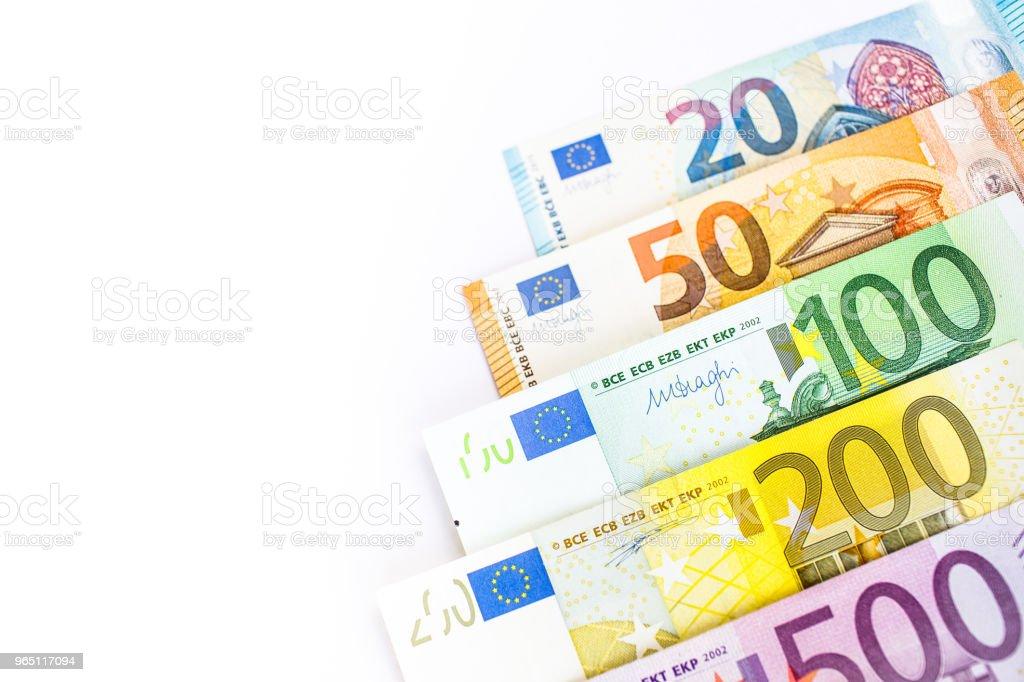 Euro cash. Many Euro banknotes of different values. zbiór zdjęć royalty-free