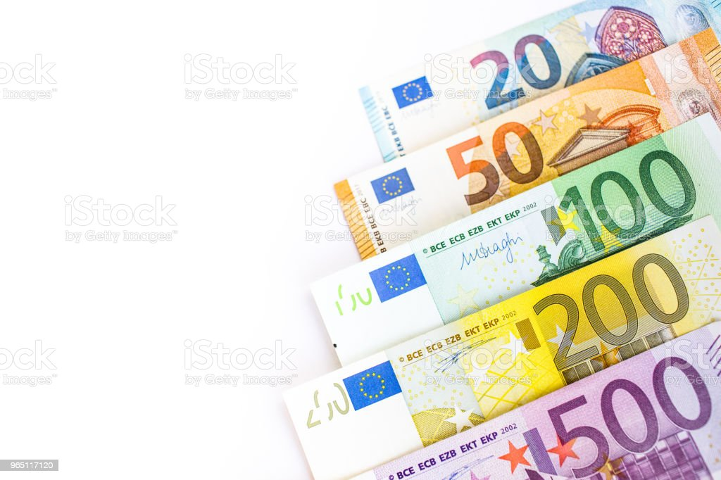 Euro cash. Many Euro banknotes of different values. royalty-free stock photo
