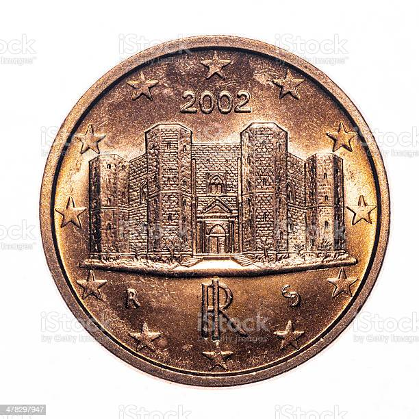 1 euro cent coin isolated on white (2002)