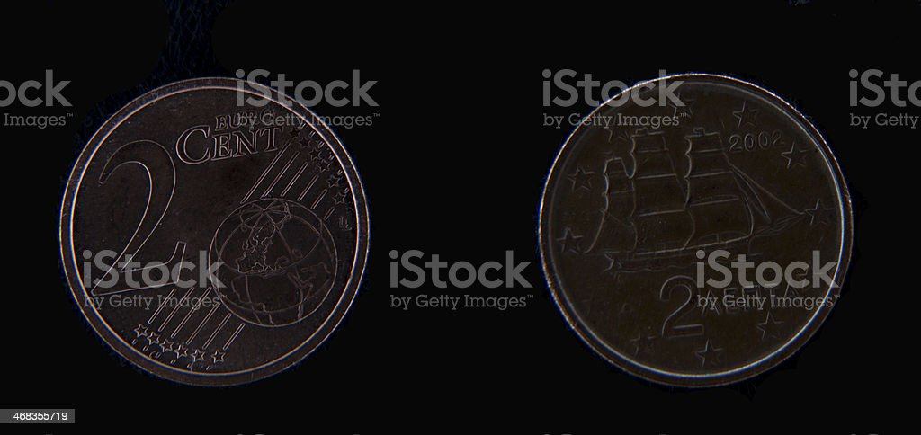 Euro cent royalty-free stock photo