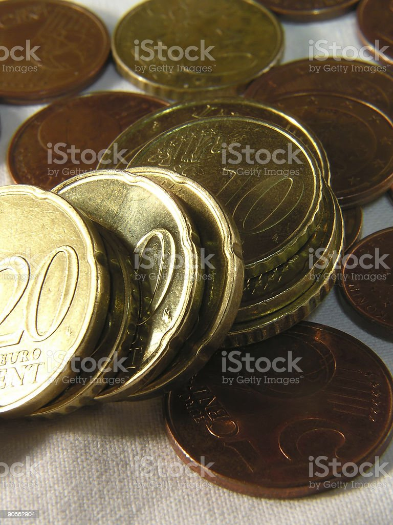 euro cents royalty-free stock photo