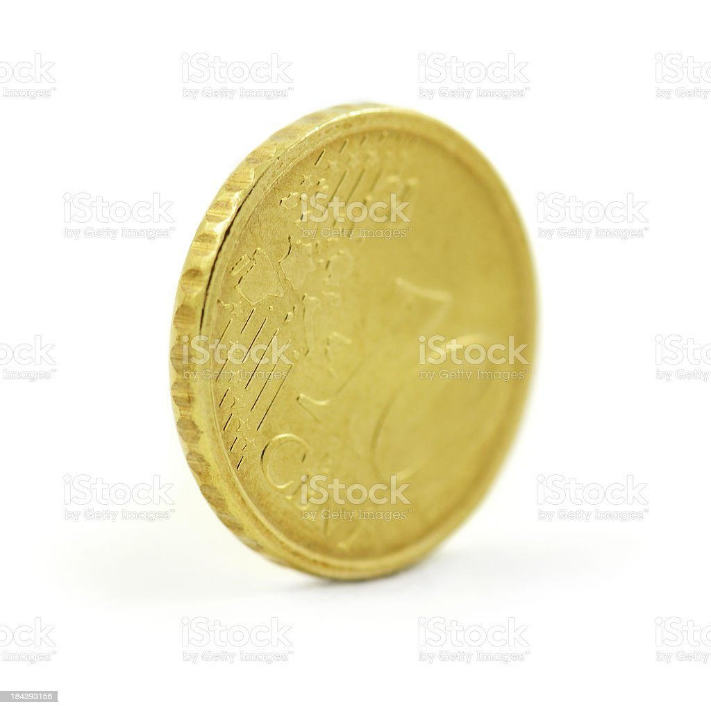 euro coin royalty-free stock photo