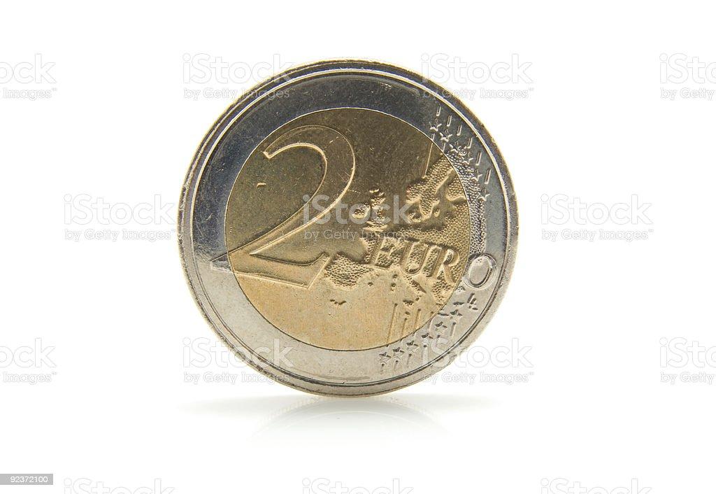 2 euro coin royalty-free stock photo