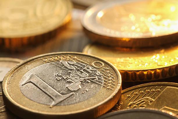 Euro-Münzen, Nahaufnahme Komposition – Foto