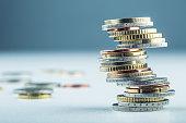 istock Euro coins. Euro money. Euro currency. 468044606
