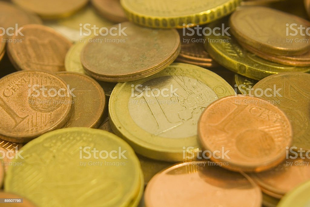 Euro Coins, Full-Frame Image royalty-free stock photo