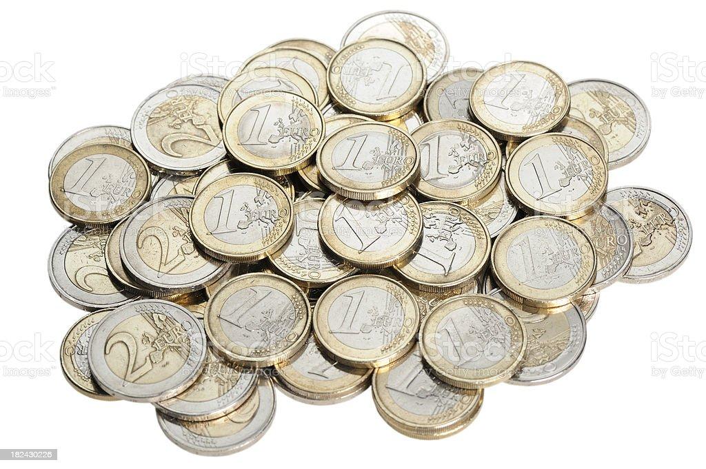 Euro coins royalty-free stock photo