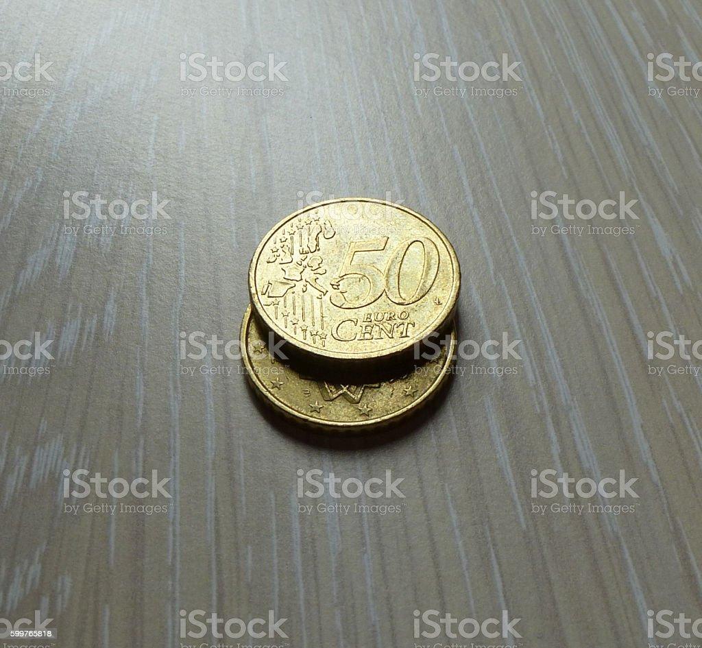 Euro Coins stock photo
