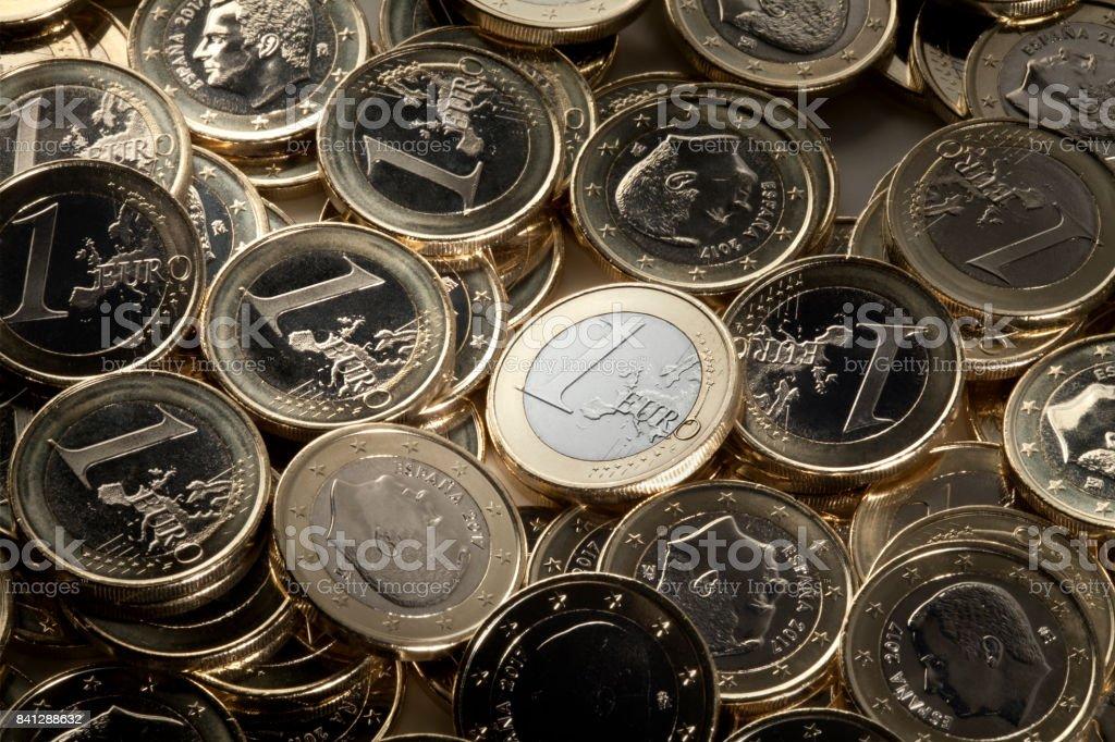 Monedas de Euro - foto de stock