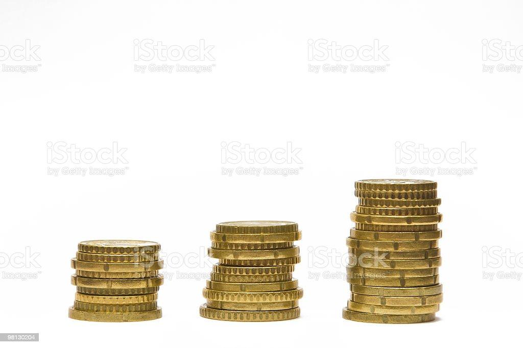 Monete in Euro foto stock royalty-free