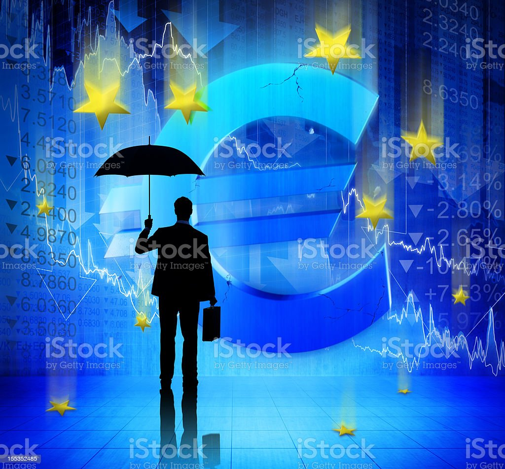Euro Collapse royalty-free stock photo