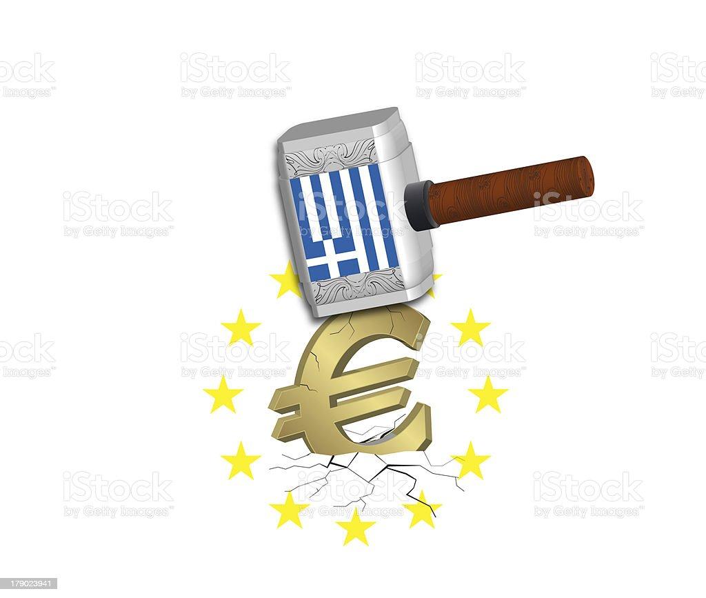 Euro Crash royalty-free stock photo