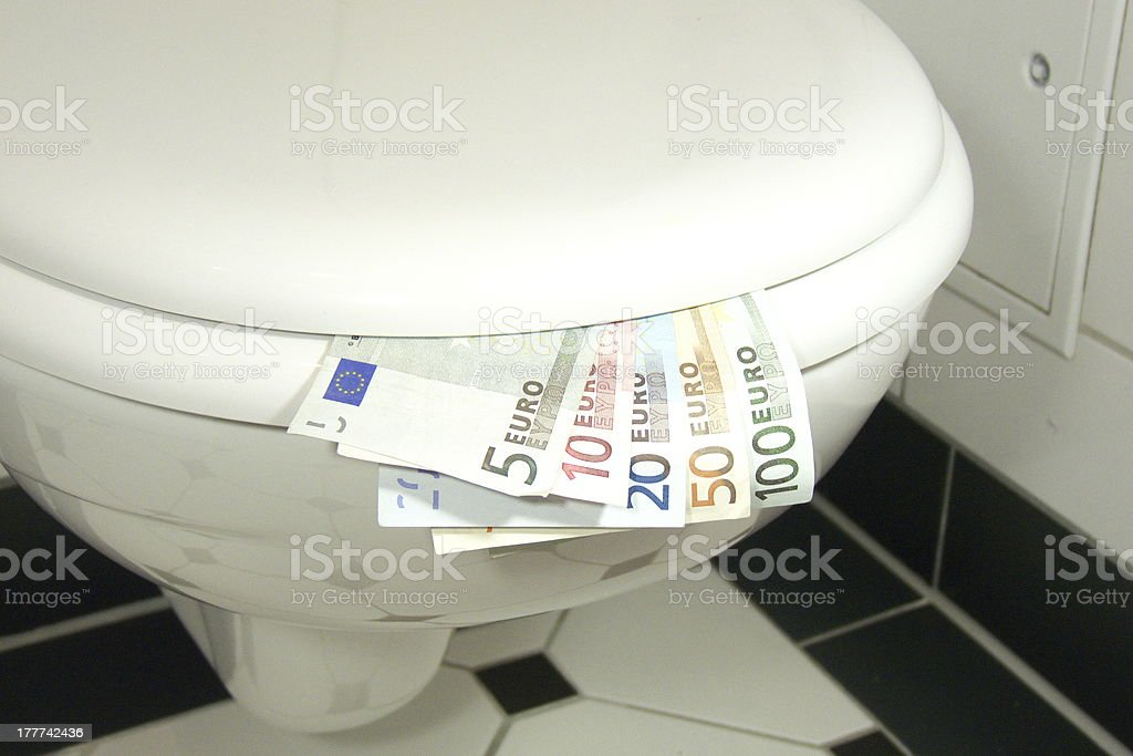 euro crises royalty-free stock photo