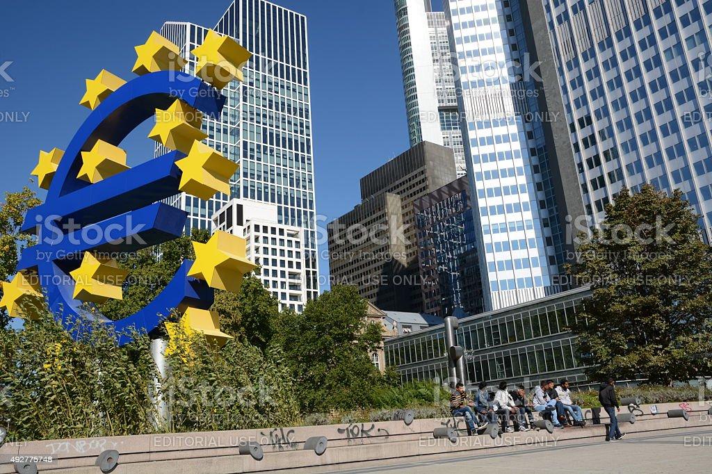 Euro crises stock photo