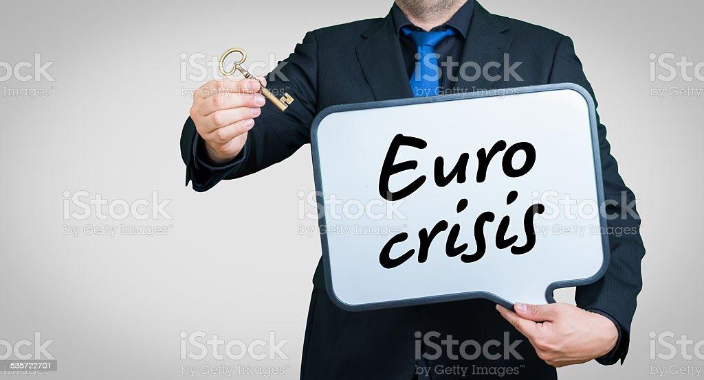 Euro crisis royalty-free stock photo