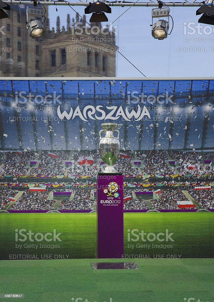 Euro cup in Warsaw, Poland stock photo