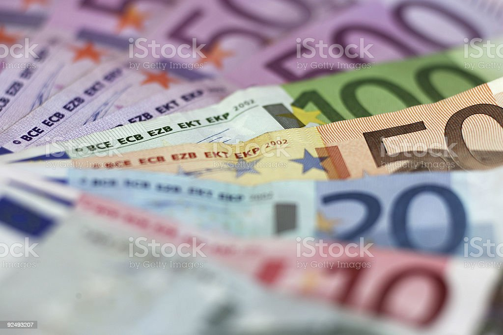 Euro Currency 50 royalty-free stock photo