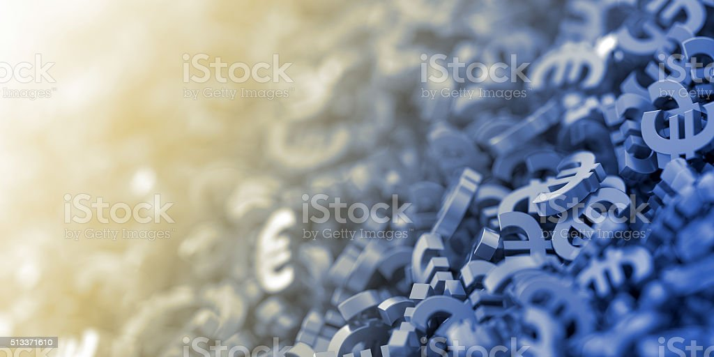 Euro currency background stock photo