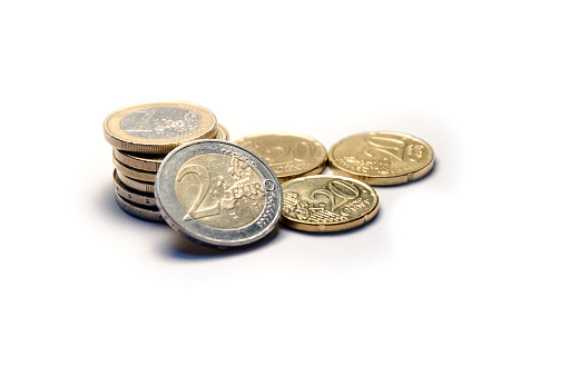 Euro Currency Coins Pile