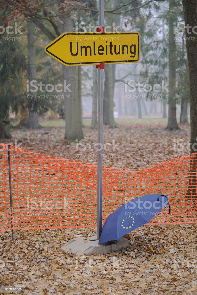 Euro currency crisis royalty-free stock photo