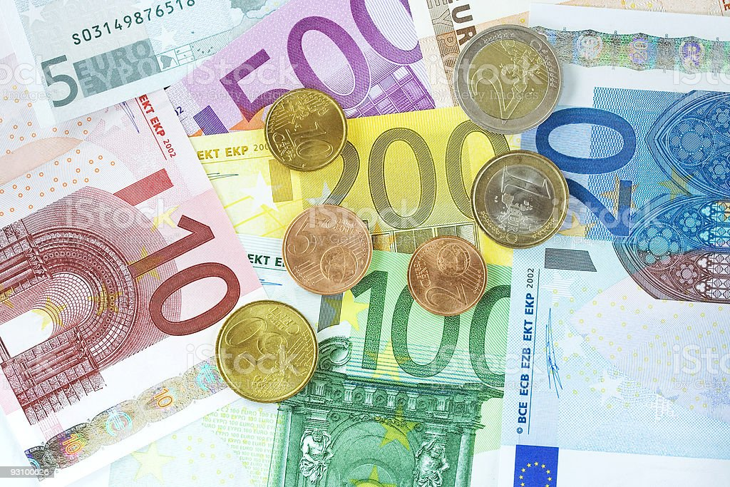Euro currency royalty-free stock photo