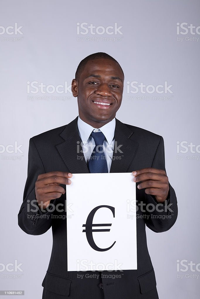 Euro currency power royalty-free stock photo